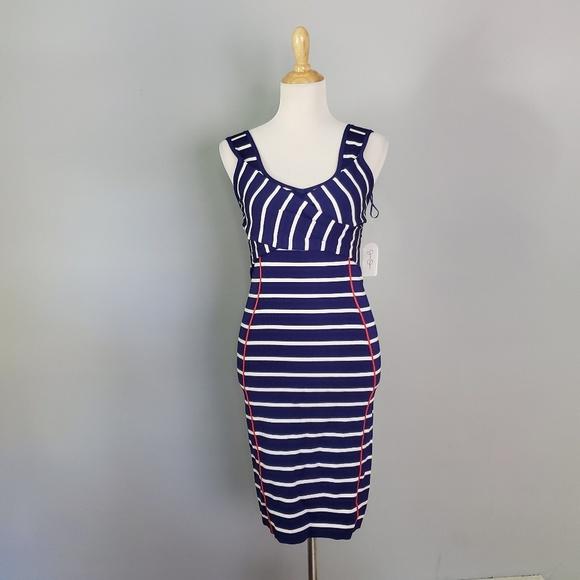 Jessica Simpson Dresses & Skirts - Jessica Simpson Bodycon Striped Dress Size Small